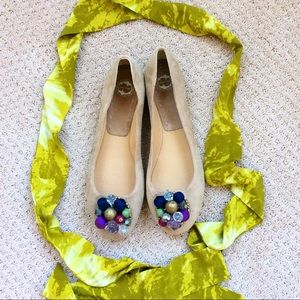 Beaded Flats by Lucky Penny for Anthropologie